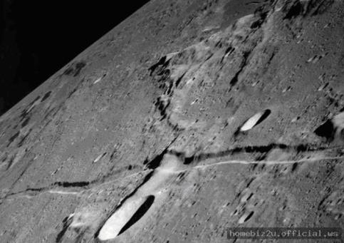 Belt of rocks observed in the moon surface